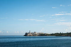 Morro Castle and it's tower in Havana Cuba Stock Image
