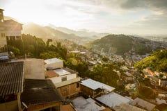 Morro da Coroa favela i det Santa Teresa området av Rio de Janeiro fotografering för bildbyråer