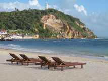 Morro de圣保罗海滩 巴伊亚da萨尔瓦多 面包渣 库存图片