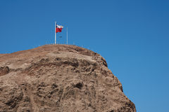 Morro de Arica. High cliff of Morro de Arica towering above the port city of Arica in Chile royalty free stock photo
