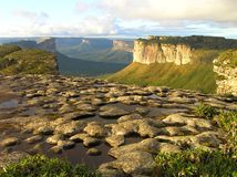 The Morro do Pai Inacio in the Chapada Diamantina, Bahia, Brazil royalty free stock image
