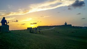 Morro EL ηλιοβασιλέματος Στοκ Εικόνα