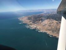 Morro fjärdflygbild - San Luis Obispo County Kalifornien Arkivbilder