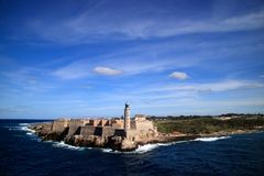 Morro Fort Havana Cuba. And Lighthouse Royalty Free Stock Image