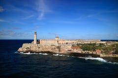 Morro Fort Havana Cuba. And Lighthouse Stock Photography