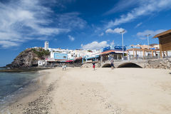 Morro Jable在费埃特文图拉岛,西班牙,社论 库存照片