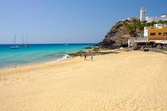 MORRO JABLE,费埃特文图拉岛西班牙- 2017年10月22日:海滩Playa 免版税图库摄影