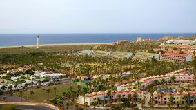 MORRO JABLE,费埃特文图拉岛西班牙- 2017年10月22日:海滩Playa 库存图片