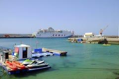 MORRO JABLE,费埃特文图拉岛西班牙- 2017年10月22日:Morr港  免版税库存照片
