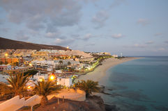 Morro Jable, At Dusk Fuerteventura, Spain Royalty Free Stock Images