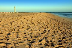 Morro Jable beach Fuerteventura Royalty Free Stock Images