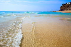 Morro Jable beach Fuerteventura Canary Islands Royalty Free Stock Photos