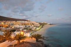Morro Jable, dusk Fuerteventura, Ισπανία Στοκ εικόνες με δικαίωμα ελεύθερης χρήσης