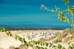 Morro Jable and Esquinzo beach on Fuerteventura Stock Photography