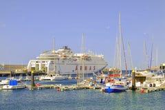 MORRO JABLE FUERTEVENTURA, SPANIEN - OKTOBER 11 2017: Puerto de Mo Royaltyfria Bilder
