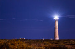 Morro Jable Lighthouse At Night Royalty Free Stock Image
