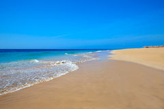 Morro Jable Matorral beach Jandia in Fuerteventura Stock Photos