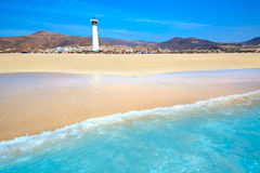 Morro Jable Matorral beach Jandia in Fuerteventura Royalty Free Stock Image