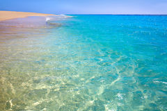 Morro Jable Matorral beach Jandia in Fuerteventura Stock Image