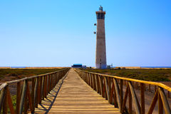 Morro Jable Matorral lighthouse Jandia Fuerteventura Stock Photography