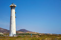 Morro Jable Matorral lighthouse Jandia Fuerteventura Stock Photo