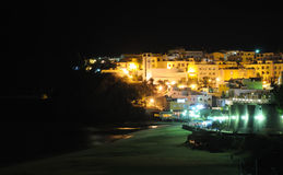 Morro Jable at night, Fuerteventura Royalty Free Stock Image