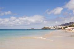 Morro Jable Strand (Fuerteventura, Spanien) Stockfotos