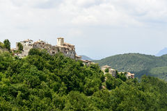 Morro Reatino, ιταλικό χωριό Στοκ εικόνες με δικαίωμα ελεύθερης χρήσης