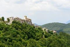 Morro Reatino, итальянская деревня Стоковые Изображения RF