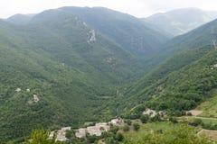 Morro Reatino, Italiaans dorp Stock Afbeeldingen