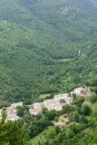 Morro Reatino, Italiaans dorp Stock Afbeelding