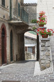 Morro Reatino, village italien Photo stock