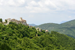 Morro Reatino, village italien Photos stock