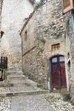 Morro Reatino, włoska wioska Zdjęcia Stock