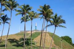 Morro robi Cristo w Bahia Salvador, Brazylia, - zdjęcie royalty free