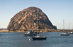 Morro Rock. This is a picture of Morro Rock at Morro Bay, California royalty free stock photos