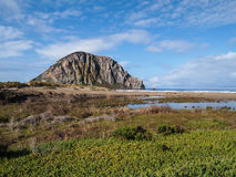 Morro rock bay Royalty Free Stock Images