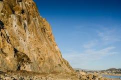 Morro Rock Climb - California Royalty Free Stock Photos