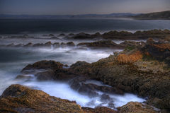Morro Rock from Montana De Oro Royalty Free Stock Images