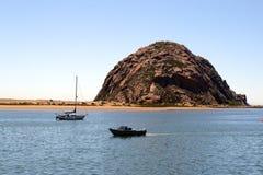Morro Rock and Morro Bay, Big Sur, California, USA Stock Photography