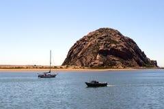Morro Rock and Morro Bay, Big Sur, California, USA Stock Photos