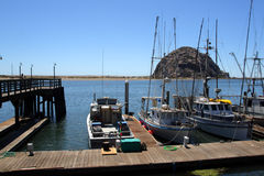 Morro Rock and Morro Bay, Big Sur, California, USA Royalty Free Stock Images