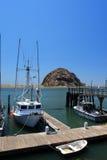 Morro Rock and Morro Bay, Big Sur, California, USA Royalty Free Stock Photo