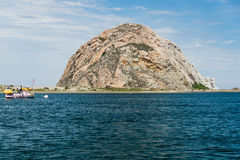 Morro Rock at Morro Bay, California Stock Photography