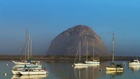 Morro Rock in Pacific Ocean at Morro Bay, California Stock Image