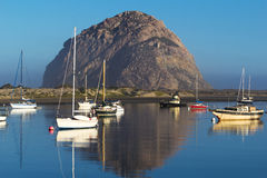 Morro Rock in Pacific Ocean at Morro Bay, California Royalty Free Stock Image
