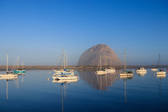 Morro Rock in Pacific Ocean at Morro Bay Royalty Free Stock Photography
