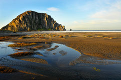 Morro Rock At Sunrise Stock Photos