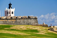 morro san маяка el juan замока Стоковое Изображение
