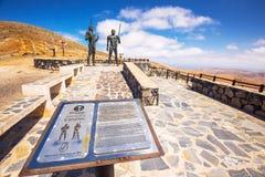 Morro Velosa Pointview с vulcanic ландшафтом острова Фуэртевентуры, Канарских островов, Испании Стоковая Фотография RF